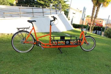LongHarry CargoBike Alu in orange