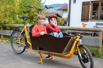 Kundenrad Alu Harry mit Holzkiste für Kids