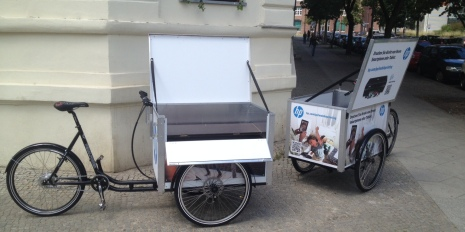Mobile Druckstation - powered by Pedalpower