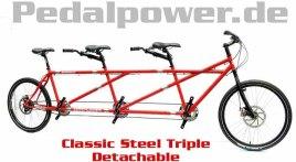 ClassicSteel Triple für 3 Personen, teilbar
