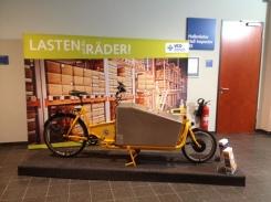 LASTEN auf die RÄDER lautet der Slogan des VCD, hier ein Pedalpower Long Harry Alu mit Alu-Messengerkiste