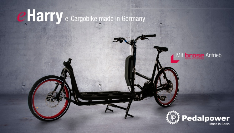 eHarry Pedalpower Cargobike made in Berlin