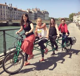 Pedalpower Tandem Quad Special Edition: Frame extra STRONG für 4 Personen (gebaut für die Tour von Alternatiba / France ( Bayonne - Paris 5.000 km)