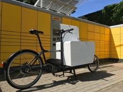 eHarry Cargobike mit Messenger Kiste