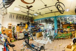 Ausstellung von Tandems und Cargobikes