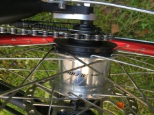 Standardmäßig kommt eine Alpine 8G. Namenschaltung zum Einsatz, auf Wunsch auch eine andere Nabe oder Kettenschaltung