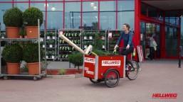 Auch Hellweg hat unsere Lastenräder im Einsatz